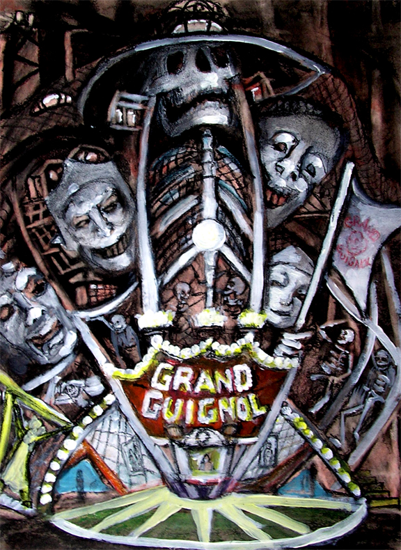 "Grand Guignol Theater 16"" x 20"""