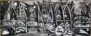 "Charcoal Town 48"" x 19"""