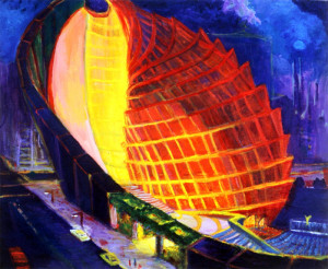 "Conical Opera House 20"" x 30"""