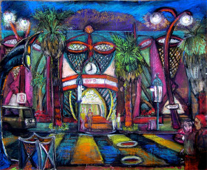 "Deserted Fashion Plaza 20"" x 30"""