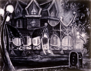 "Bicycle House 20"" x 30"""