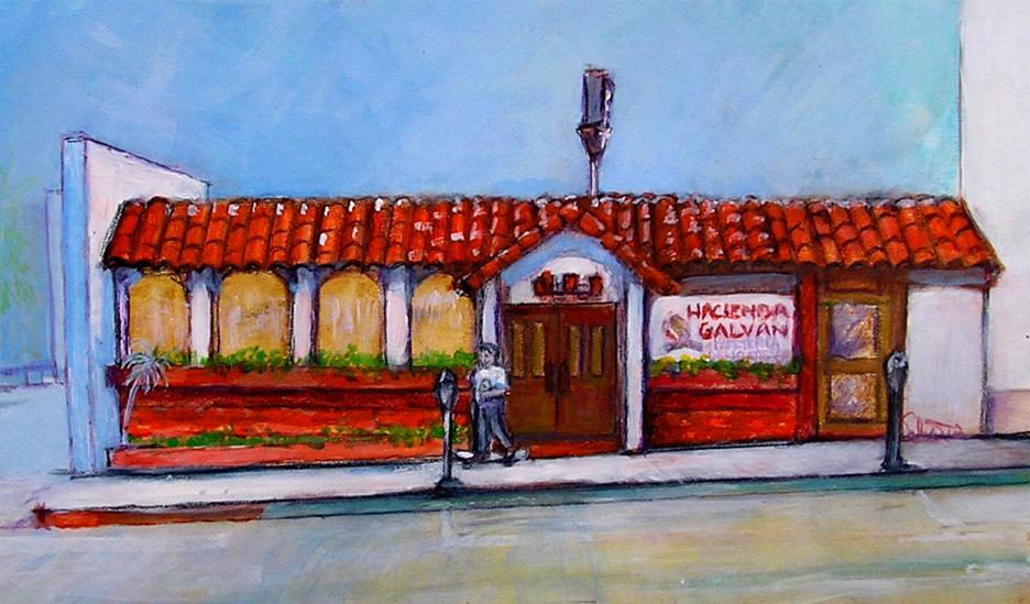 "Hacienda Galvan restaurant  16"" x 20"""