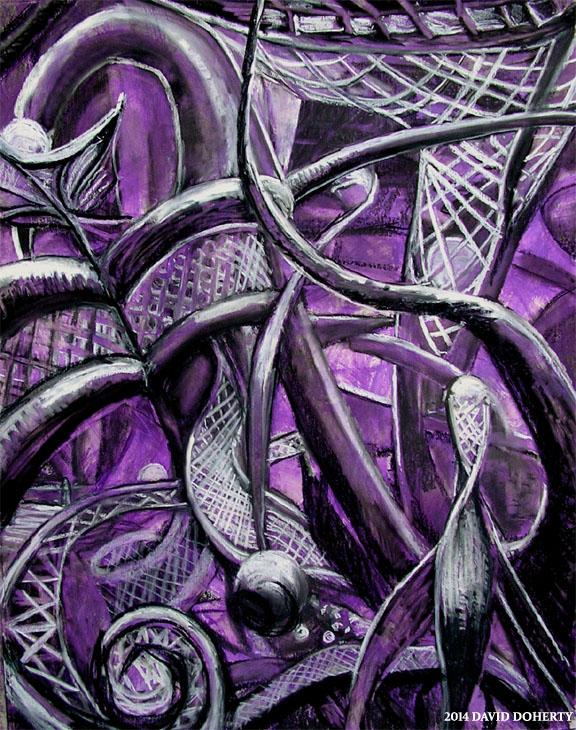 "Mt. San Jacinto 30"" x 40"" charcoal, pastel, over acrylic on matte board"