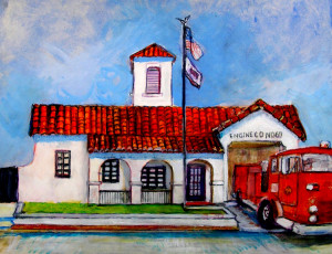 "Fire Station 16"" x 20"""