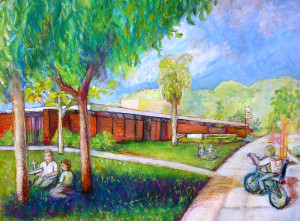 "Palisades Branch Library 16"" x 20"""