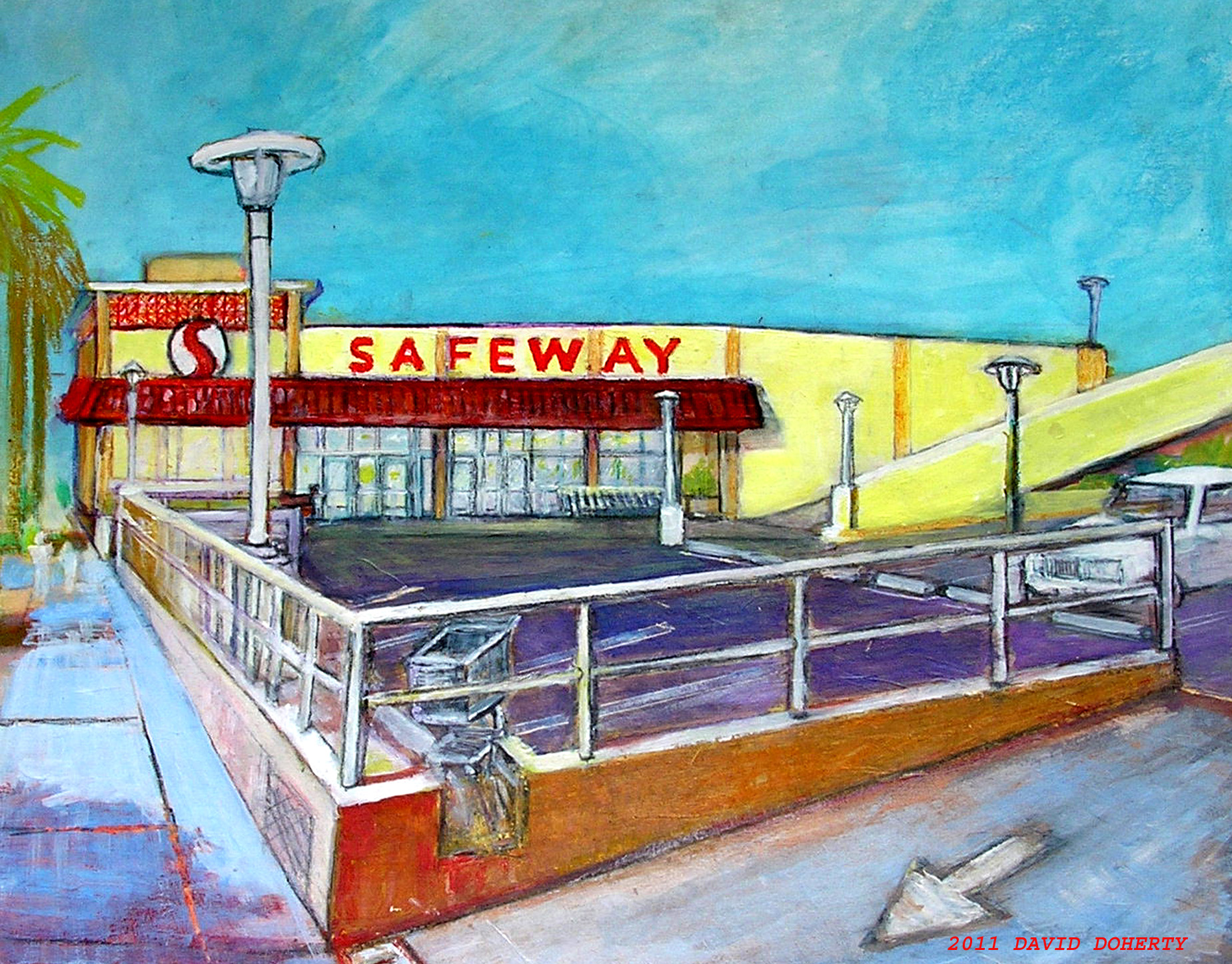 SAFEWAY Market acrylic on board