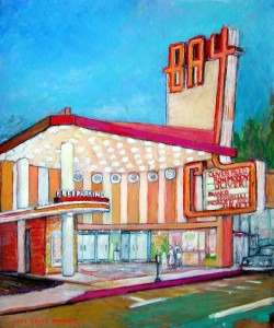 "Bay Theater 16"" x 20"" acrylic on board"