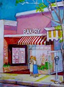 Palisades Bakery acrylic on board