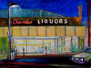 Charles Liquor acrylic on board