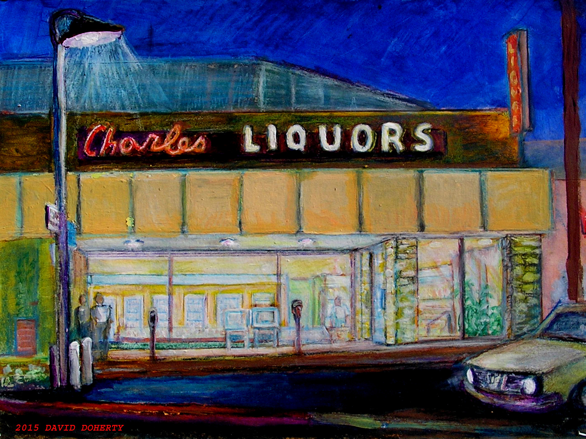Charles Liquor acrylic on board