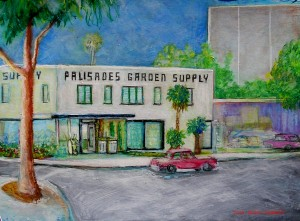 Palisades Garden Supply acrylic on board