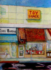 Toy Shack acrylic on board